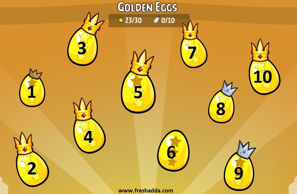 hidden eggs in angry bird facebook